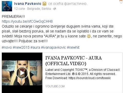 Ovako zvuči nova pesma Ivane Pavković!