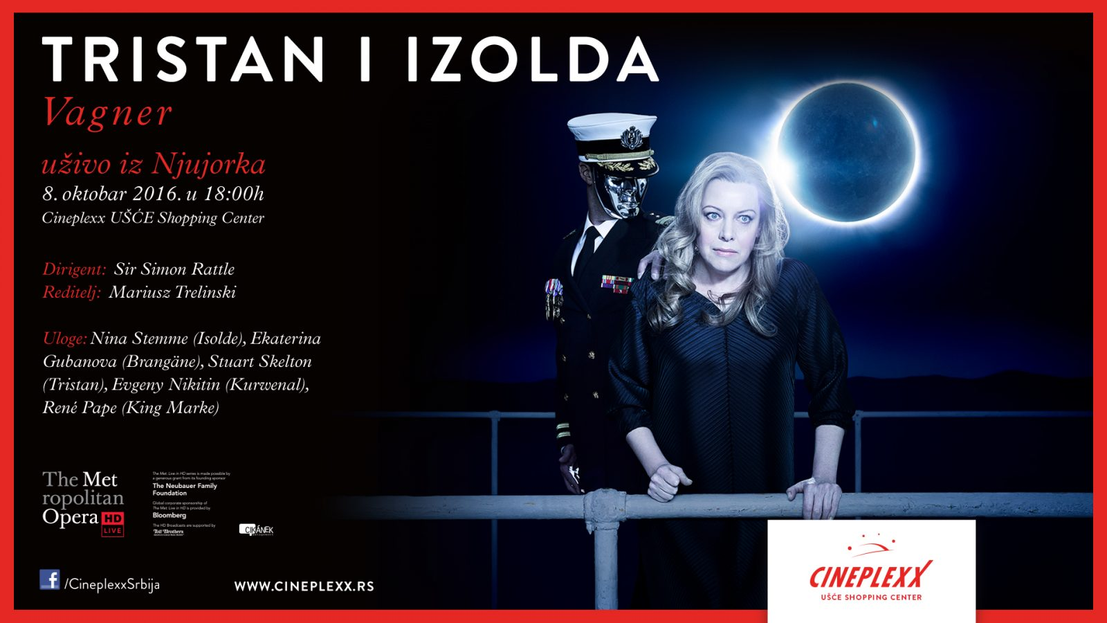 Večeras Vagnerova opera uživo u bioskopu Cineplexx UŠĆE Shopping Center