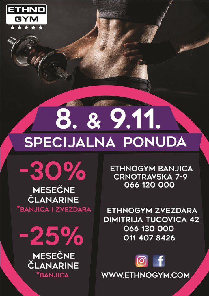Ethnogym, Ethnogym: Specijalna ponuda za 08. i 09. novembar, Gradski Magazin