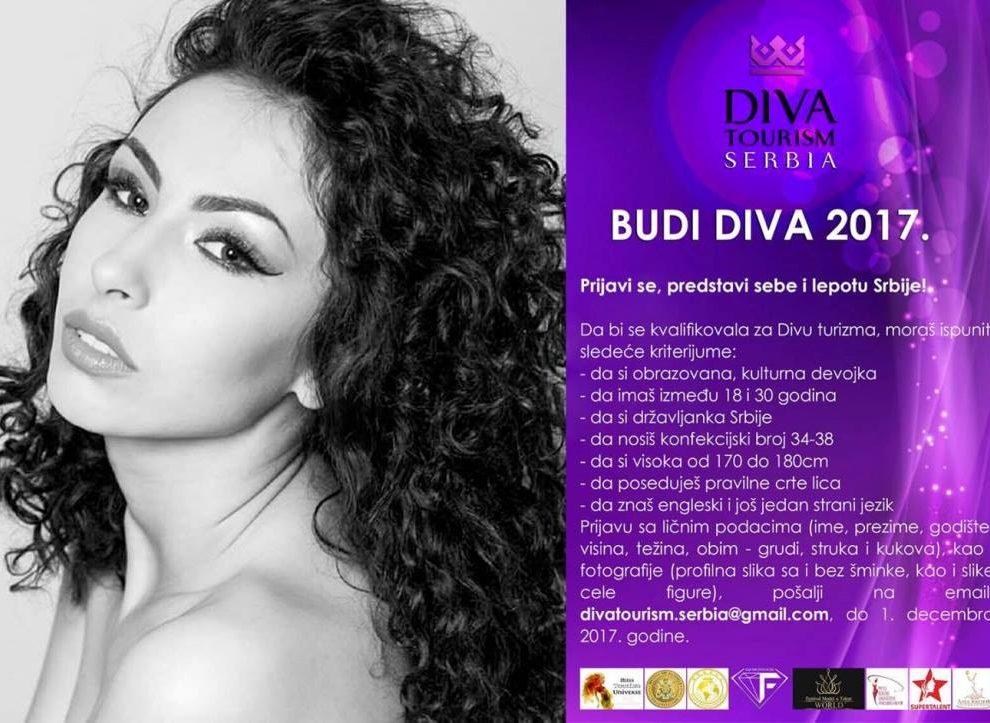 DIVA TOURISM SERBIA: Prijavi se, predstavi sebe i lepotu Srbije!