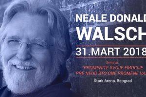 Nil Donald Volš stiže u Beograd u martu 2018. godine