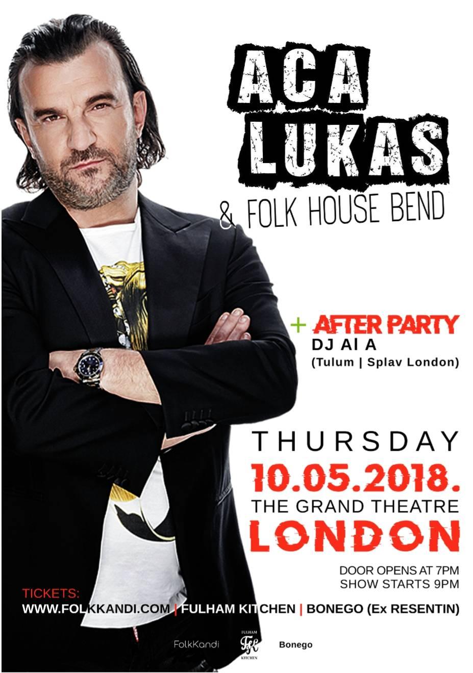 Aca Lukas i Folk House Bend u LONDONU!