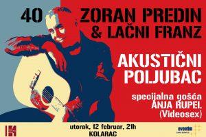 Anja Rupel posle dugo vremena ponovo u Beogradu i to kao gošća na koncertu Zorana Predina i Lačnog Franza